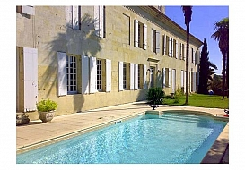 Holiday Chateau in Targon, Gironde, Nouvelle-Aquitaine, South West France